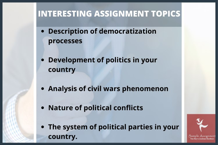 political leadership assignment topics