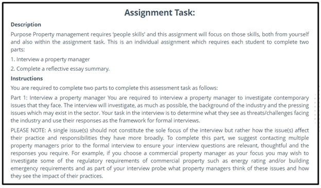property management assignment answer