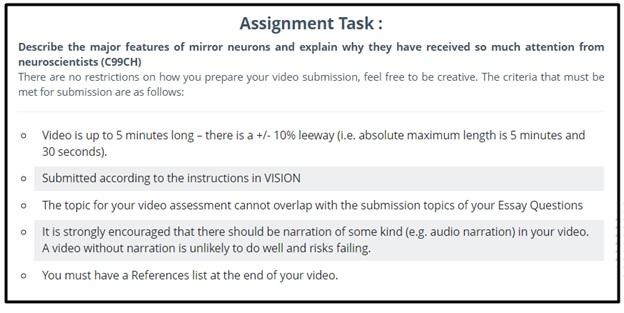 psychobiology assignment answer