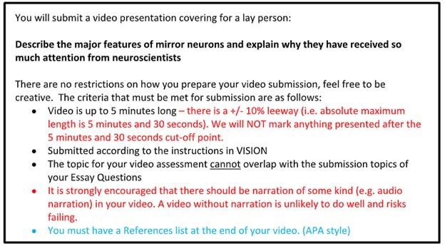 psychobiology assignment solution