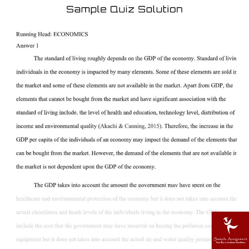 quiz sample solution