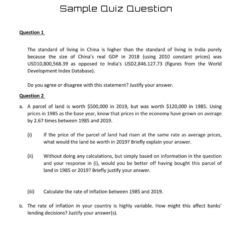 quiz sample