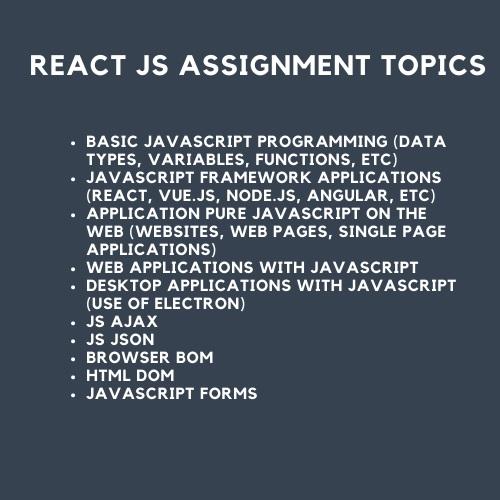 reactjs assignment help