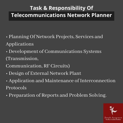 responsibilities of telecommunication network planner