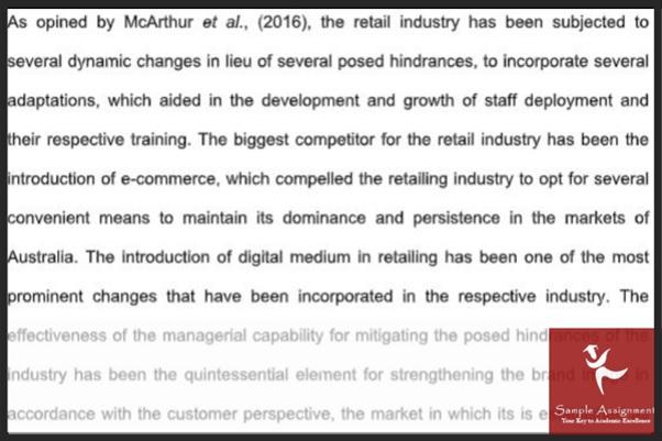 retail management assignment answer