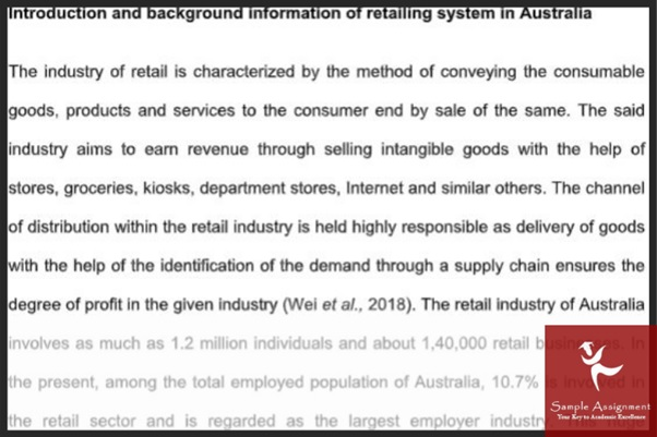retail management assignment sample