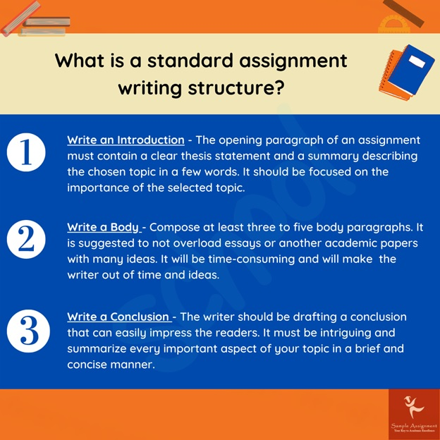 standard assignment writing structure