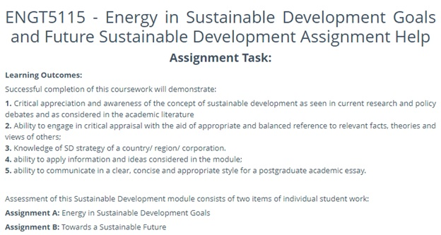 sustainable development assignment question Canada