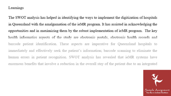 swot analysis assignment example online uk