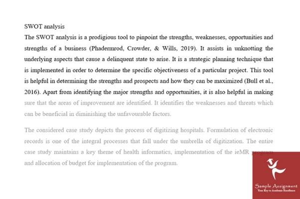 swot analysis assignment sample uk