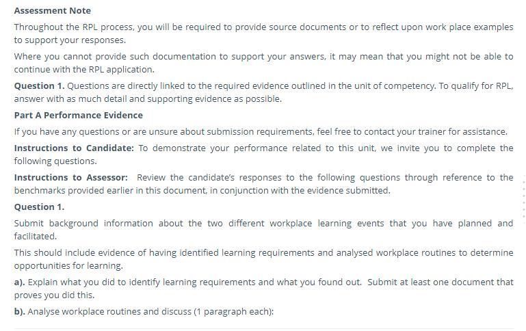 taedel402 assessment sample
