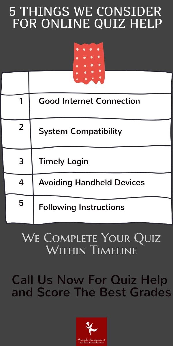 things to consider for online quiz help