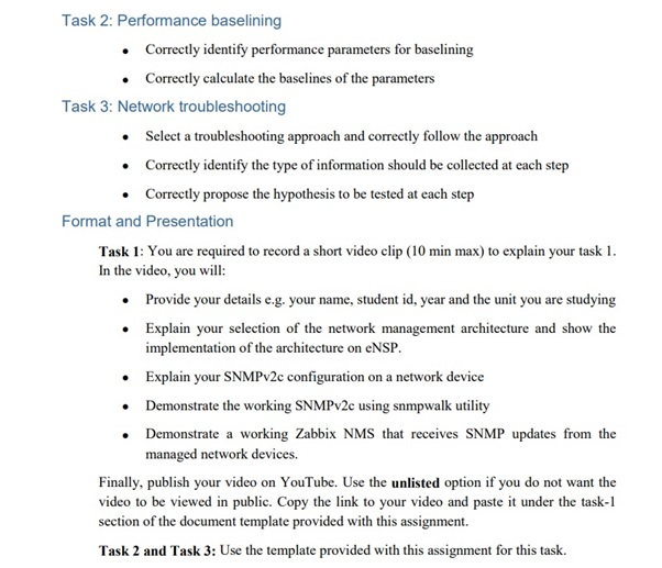 Zabbix assignment question sample