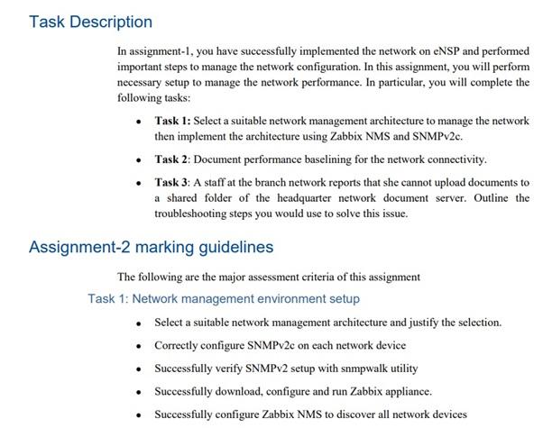 Zabbix assignment question