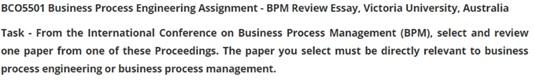 BCO5501 business process question