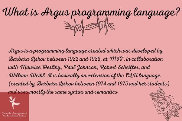 argus programming language