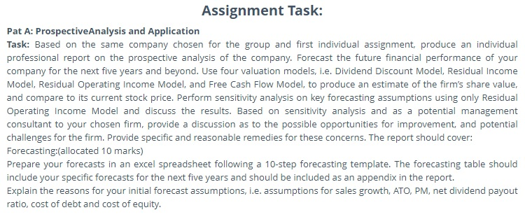 business valuation finance assignment sample