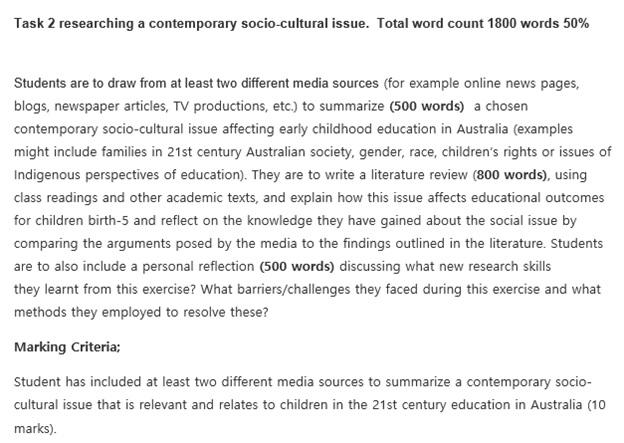 contemporary social assignment question