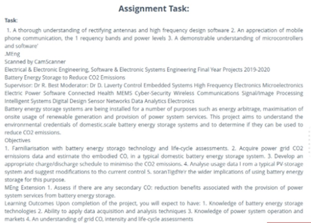 electronic engineering assignment question sample UK