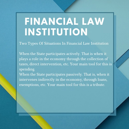 financial law institution