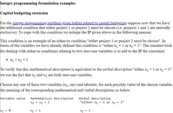 interger programming examples