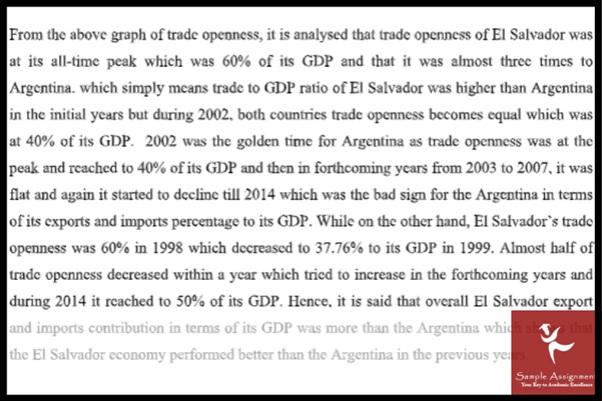 international economics assignment sample UK