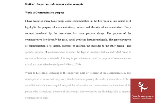 interpersonal communication assignment sample online