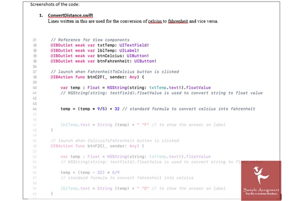 ios assignment sample online Australia