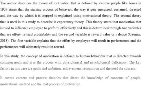 motivation assignment sample online
