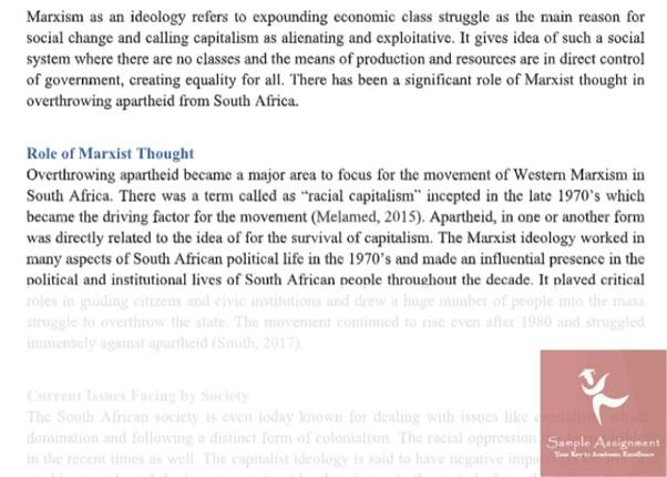 political economics assignment sample
