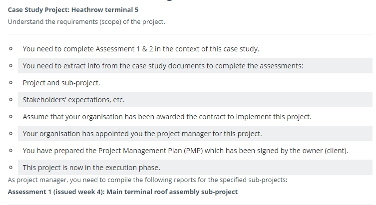 ppmp project assignment question