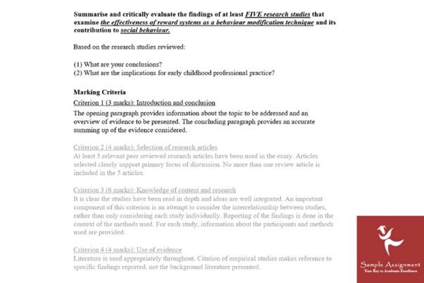 psychology assignment question online UK