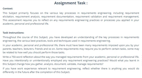 requirement engineering assignment question