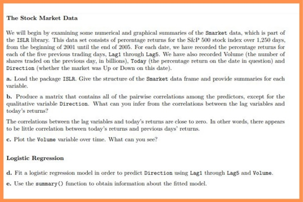 stock market assignment question sample