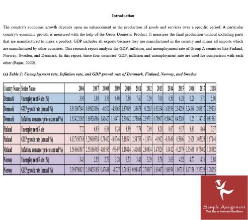 economics coursework sample