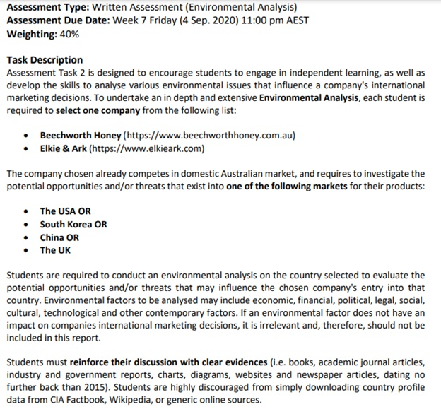 environmental pollution assignment question