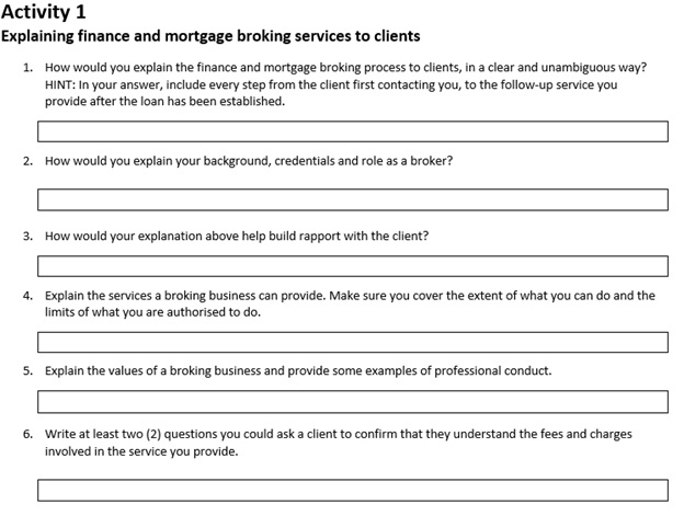 finance and mortgage broking
