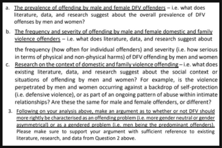 gender crime and violence assignment sample