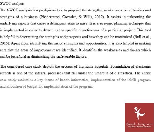 health informatics assignment sample