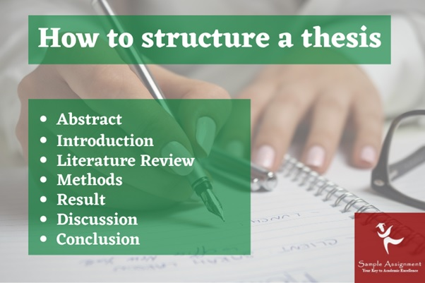 how to structure a thesis