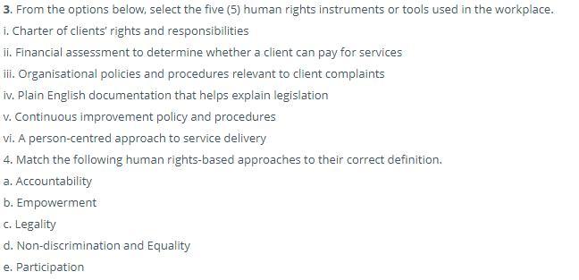 humanities assessment sample