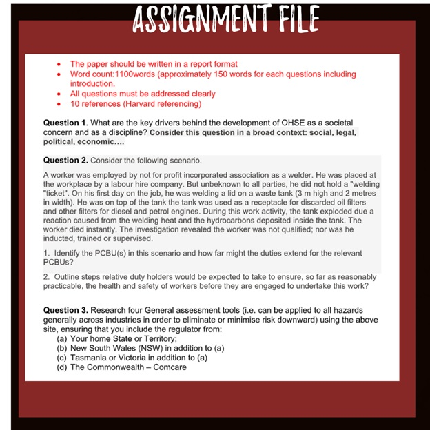ohse management assignment question