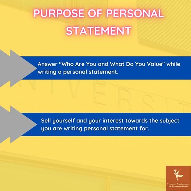 purpose of personal statement UK