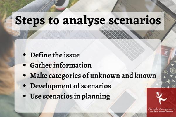 step to analyse scenarios