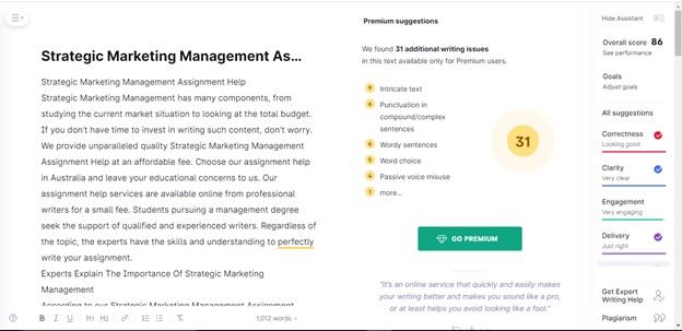 strategic marketing management assignment example