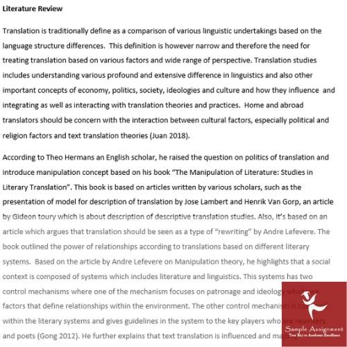 translation essay assignment sample online