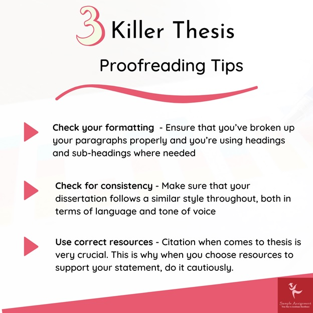 3 killer thesis proofreading tips