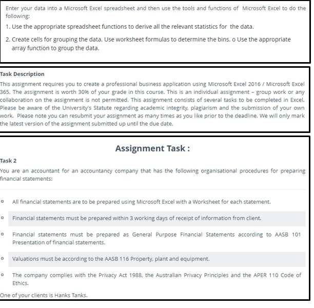 Assignment Sampl Of MS Excel