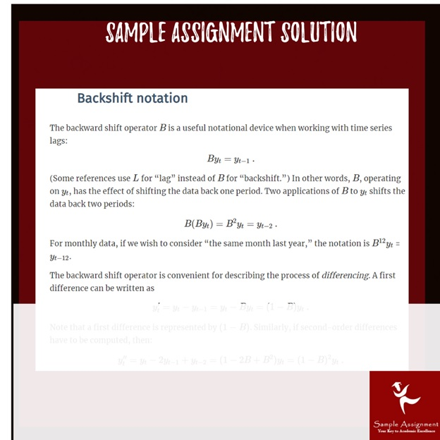 ECON2032 identifying stationarity sample assignment
