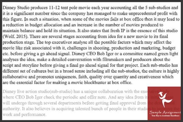Film Studies Essay sample online
